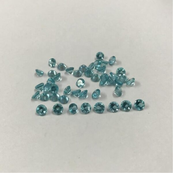 sky blue apatite faceted