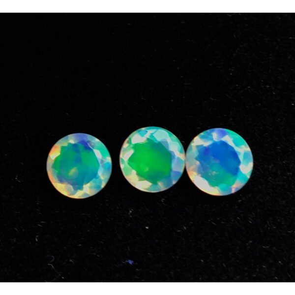 ethiopian opal faceted round cut