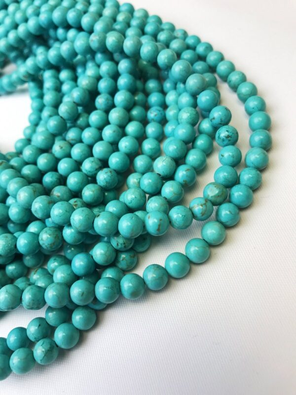 natural howlite turquoise smooth round beads