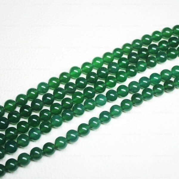natural green onyx smooth round beads