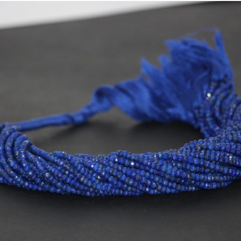 natural lapis lazuli faceted rondelle beads