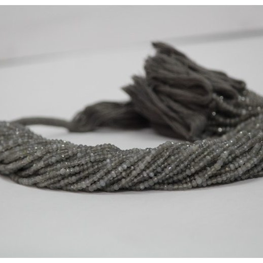 gray moonstone faceted rondelle beads