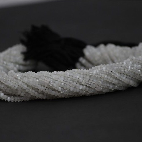 saloni moonstone faceted rondelle beads