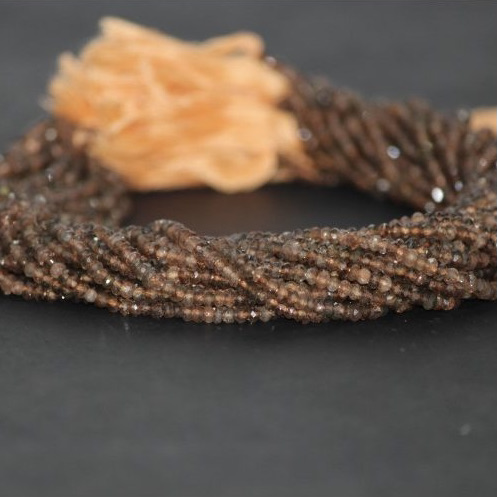 andalusite garnet faceted rondelle beads