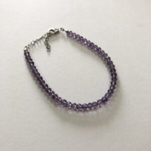 amethyst faceted round beads bracelet