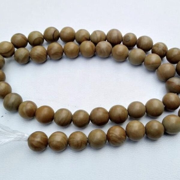 AAA Natural Camel Jasper Smooth Round Beads