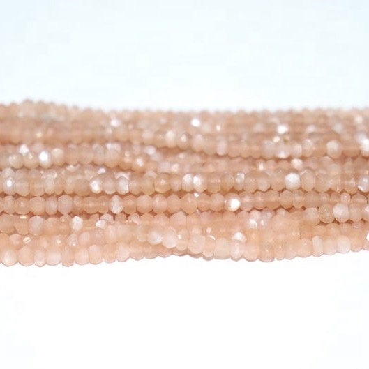 peach moonstone faceted beads